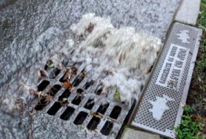 Photo of stormwater runoff