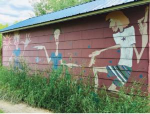 Photo of garage mural